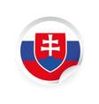 slovakia flag symbol sticker vector image