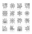 spider web black line icon set vector image vector image