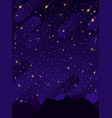 starry sky with bright and dim stars vector image vector image