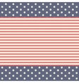 Stars and striped background decoration design vector image