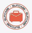 suitcase design vector image vector image