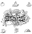 Thanks givig hand draw in doodle art vector image vector image