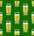 transparent beer glasses seamless pattern vector image