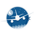 travel icon flying in the sky plane vector image vector image