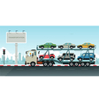 Truck transport vehicles vector image vector image