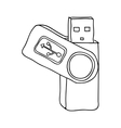 usb drive icon image vector image vector image
