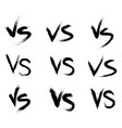 versus battle vs collection vector image vector image