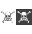 vintage monochrome skull with respirator vector image vector image