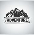 vintage mountain campfire adenture logo vector image vector image