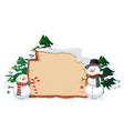 wooden banner with christmas vector image