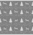deer and christmas tree seamless pattern 1 vector image