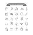 Taxi thin line icons set vector image