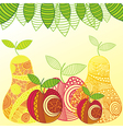 Apples and pears pattern vector image