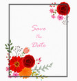 invitation card with flowers vector image