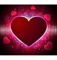 stylish glowing heart background vector image