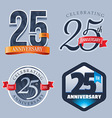 25 Years Anniversary Logo vector image vector image