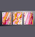 abstract banner pack modern design