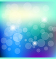 abstract blue bokeh background design vector image vector image