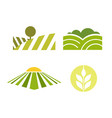 abstract colored agriculture logotype isolated on vector image