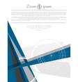 Abstract modern minimal flat flyer design vector image vector image