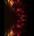angle overlap stripe rush in dark background vector image vector image