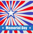background america to memorial day vector image vector image