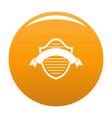 badge premium icon orange vector image vector image