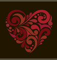 beautiful red heart vector image vector image