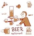 Beer restorant vector image vector image