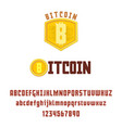 bitcoin concept and font digital money vector image
