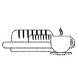 bread with coffee cup vector image vector image
