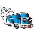 bus smile vector image vector image