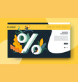 business investment web page template percentage vector image