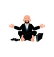 business yoga businessman meditating isolated vector image vector image