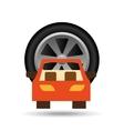 car front wheel icon design vector image vector image