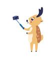 cartoon reindeer doing vector image vector image