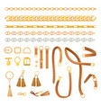 chains and belts fashion elements set fashionable vector image vector image
