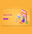 concept of mobile online store 24-hour support vector image