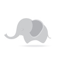 cute female elephant cartoon drawing thailand vector image