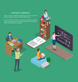 distance learning people web banner vector image