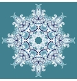 Elegant Lace Winter Snowflake vector image vector image