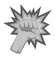 fire fist icon monochrome vector image vector image