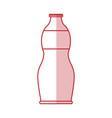 flat line bottle design vector image vector image