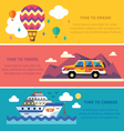 flat traveling set vector image vector image