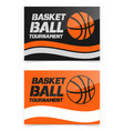 flyer or web banner design with basketball ball vector image vector image