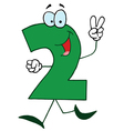 funny cartoon numbers-2 vector image vector image