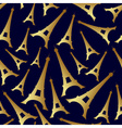 gold eiffel tower france country seamless pattern vector image