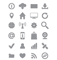 Gray Internet icons set vector image