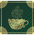 Green tea cup vector image vector image