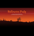 halloween party celebration background design vector image